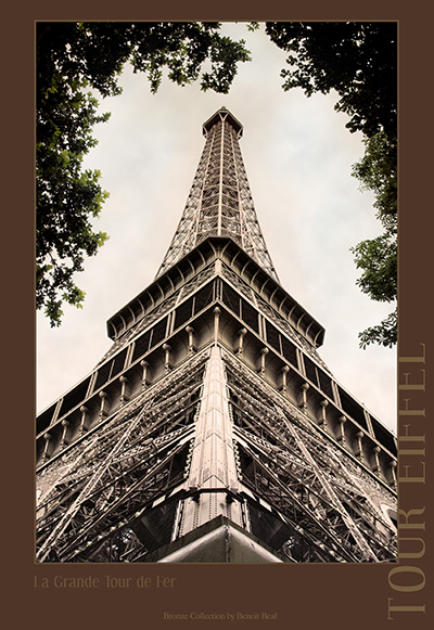 Eiffel towers structure for Chaise pied tour eiffel