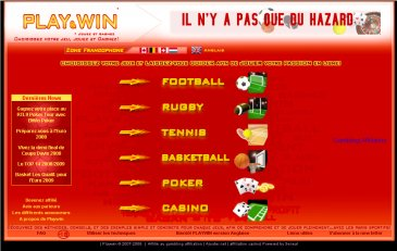 desgin du site playwin